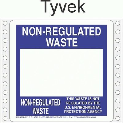 Non-Regulated Waste Tyvek Labels HWL250T (Pack of 500)