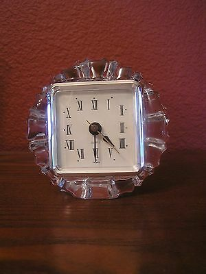 1960S CRYSTAL/GLASS CLOCK