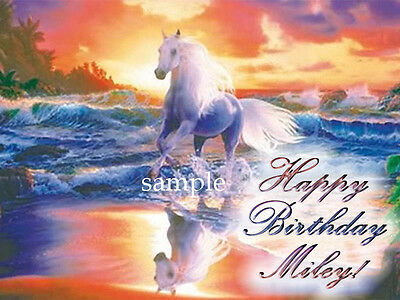 UNICORN Edible Photo CAKE Topper Personalized ICING Image FREE SHIPPING