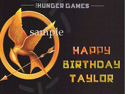 HUNGER GAMES Edible Photo CAKE Topper Personalized ICING Image FREE SHIP
