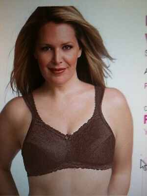 3068153891d10 PLAYTEX 4088 18 Hour Comfort Lace Wire Free Bra 36C Brown Maple NWOT ...