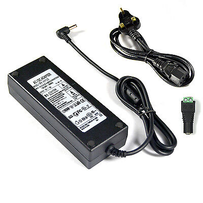 12V 10A 10 amp 120W DC POWER Supply ADAPTER Transformer LED Strip / CCTV