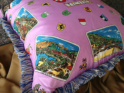 **VINTAGE ITALIAN, EUROPEAN DOWN & FEATHER, SILK PILLOW, from MILAN - PINK**