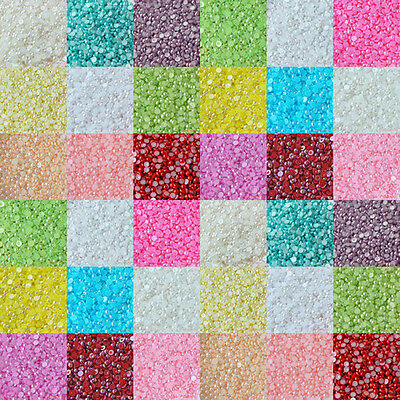 200pcs (3mm - 20mm) Colors AB Flatback Half Pearl Round Scrapbooking Nail Craft