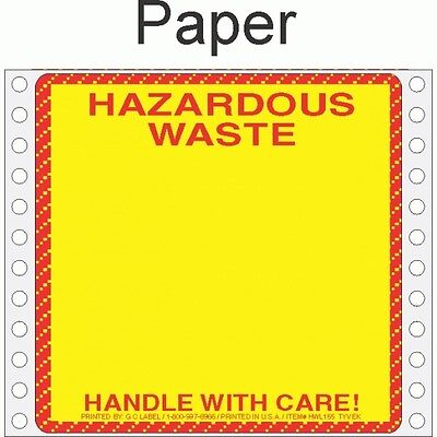 Hazardous Waste Paper Labels HWL155P (PACK OF 500)