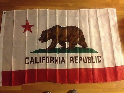 California Flag Californian Flag Cali State  free shipping 3x5 Polyester Flag