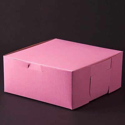 10 count PINK 10x10x4 Bakery or Cake Box