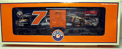Lionel Nascar Boxcar From 2010 With Race Car #7 Logo Lionel # 6-39348Ra