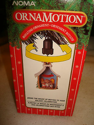 Noma Ornamotion Collectible Ornament Choir Of Mice Inside Church Rotates 1989