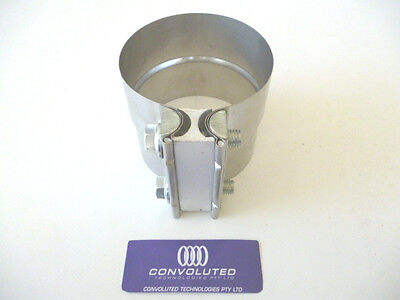 """Stainless steel lap band exhaust clamp for 3-1/2"""" or 90mm"""