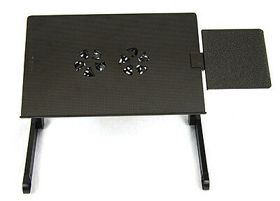 BN Adjustable Laptop Table Desk Portable Bed Tray With Double Cooling Fan