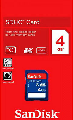 New SanDisk 4GB SDHC Class 4 SD Flash Memory Card Camera 4 G GB SDSDB-004G-B35