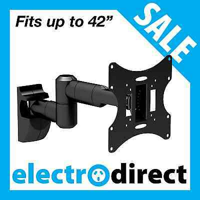 LCD LED Full Motion TV Wall Mount Bracket Television Fits from 10 to 42 inch TV