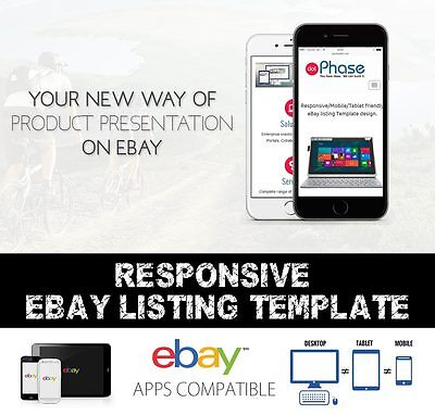 Responsive eBay Listing template compatible with inkfrog, auctiva listing tools