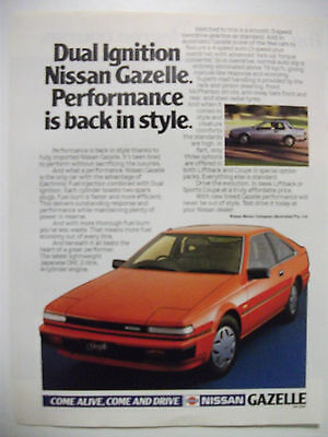 1984 Nissan Gazelle Coupe & Liftback Fullpage Colour Magazine Advertisement