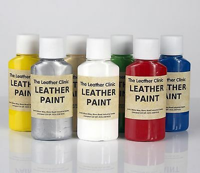 Leather Paint.  For custom designs and artwork. Brush, sponge or spray.