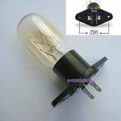Microwave Oven Globe Lamp Bulb Straight Terminals 240V 25W T170 For Many Brands