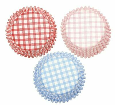 Gingham Baking Cases by Culpitt 54pk Cupcake cake decorations