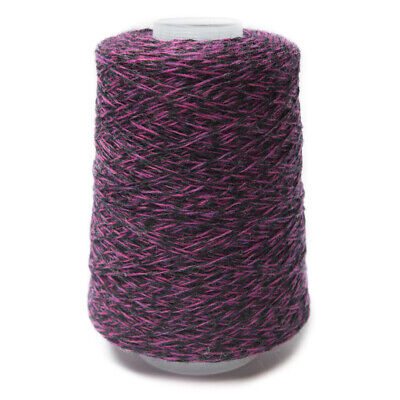 200G Pink / Dark Grey Mix 2/11Nm Lambswool Yarn 190/344