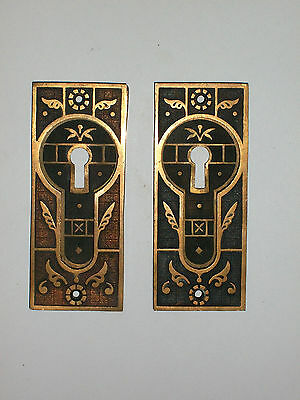 Antique Eastlake Design Pocket Door Pulls