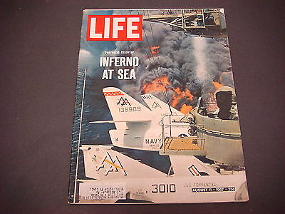 Life Magazine,August 11,1967,Inferno At Sea,Forrestal Disaster