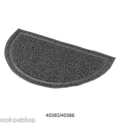 NEW - Cat Litter Mat For Cat Litter Trays Oval Grey 2 Sizes