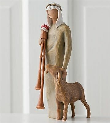 Demdaco Willow Tree Nativity Zampognaro  27183  NIB  Shepherd with bagpipe