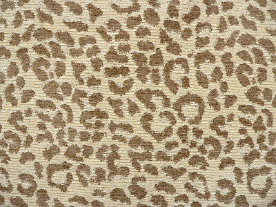 Drapery Upholstery Fabric Chenille Animal Print Leopard Brown Spots