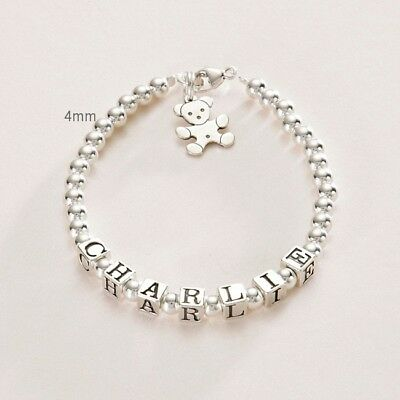 Sterling Silver Name Bracelet, Personalised Girls Jewellery, Very High Quality!