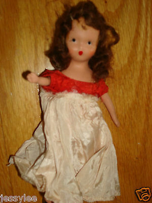 """Vintage Doll~5"""" Doll~Heart Shape Lips~Nancy Ann Storybook doll, bisque, 1940's"""