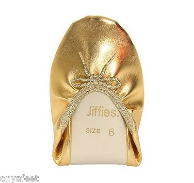 GENUINE Womens Grosby Jiffies BALLET/DANCE/SOFT/FLAT/SLIPPER SHOES GOLD flats