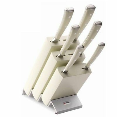 Wusthof Ikon 7 Piece Knife Block Set Creme Solingen Knives Made In Germany