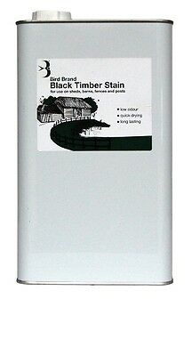 Bird Brand Black Timber Stain |  5 Litres | Box of 4