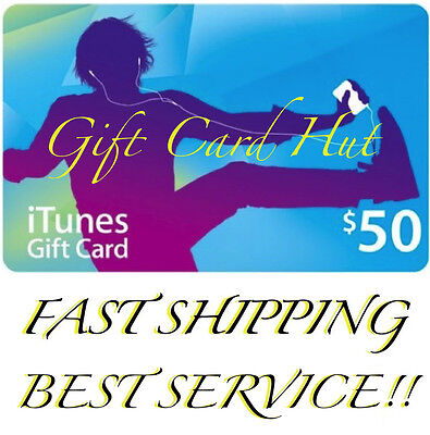 $50 US iTUNES CARD gift voucher certificate Apple USA USD iTune 100% Genuine