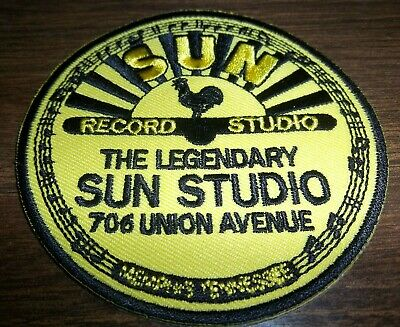 Sun Studios, Memphis- Embroidered Cloth Patch. Elvis/ Jerry Lee Lewis  3.5 Inch