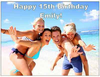 Personalised Photo FULL A4 Cake Topper Edible Wafer Paper Special Ocassions
