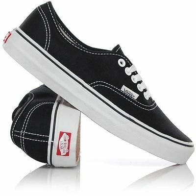Vans Shoes Authentic Black White USA SIZE Classic Skateboard Sneakers FREE POST