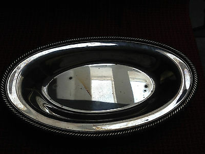 Vintage elongated oval WM Rogers Silverplate serving tray