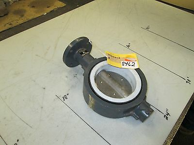 """Center Line Butterfly Valve P/N 2816 4"""" Wafer Type S/S Disk CWP 125 PSI (NEW)"""