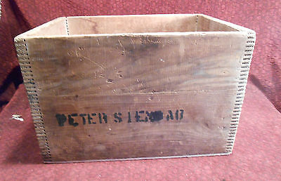 H.P Hood & Sons Antique Wood Crate