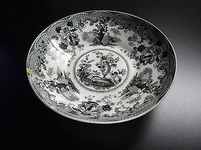 Ancienne assiette coupelle en faïence Stafford Pottery Staffordshire
