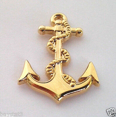 """US NAVY ANCHOR (SMALL GOLD 1-1/16"""")  Military Hat Pin P14085 EE"""