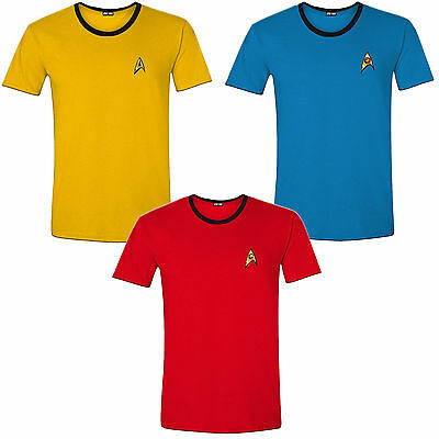 Star Trek Enterprise Crew Uniform T-Shirt Männer Men Fasching Kostüm Halloween