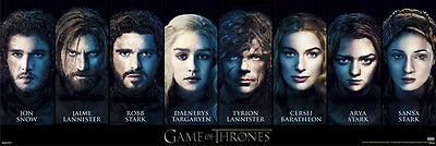 Tyrion Robb Danenerys Jon New Never Hung Game of the Thrones Characters Poster