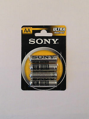 Sony AA R6 x 4 Ultra Heavy Duty Batteries 4 Pieces 1 Pack 1.5V Brand New in Pack