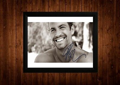 Paul Walker Signed Framed Pp A4 Print Gift Ideas The Fast And The Furious Star