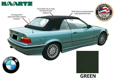 BMW E36 3-Series Convertible Soft Top 1994-1999 GREEN Twillfast factory material