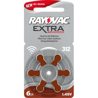 60x Hörgeräte-Batterie Typ 312 Rayovac Extra Advanced