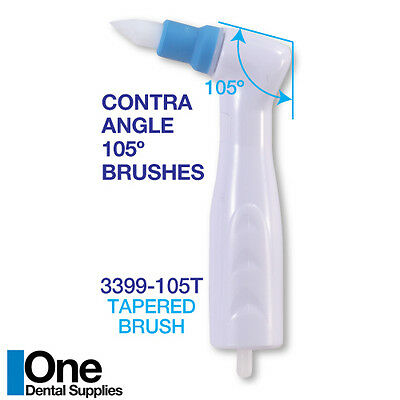 Dental Disposable Prophy Angles - Tapered Brushes 500 pcs