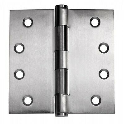 Quality Wide Throw Door Hinge SSH1005 100x125x3mm Fixed Pin Stainless Steel